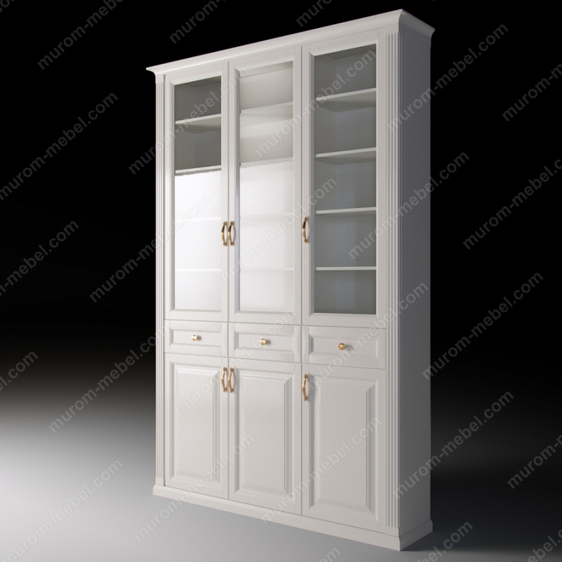 Шкаф трехстворчатый с ящиками из серии