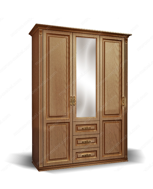 Шкаф 3-створчатый из сосны из серии