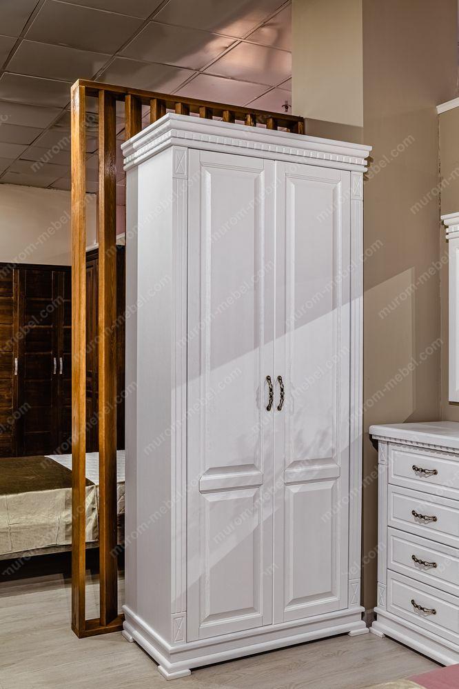 Шкаф 2-х створчатый Флоренция-1 (белая эмаль)