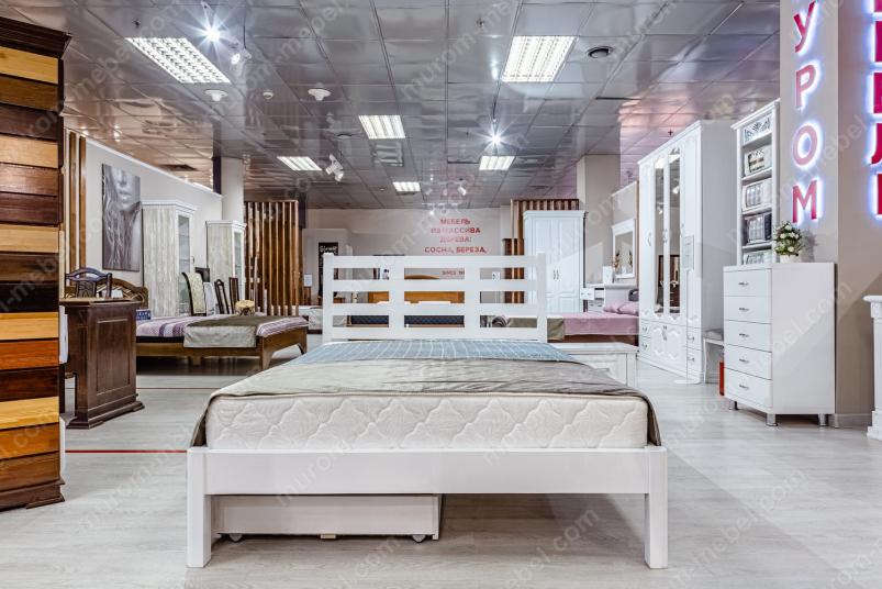 Кровать Морфей (белая эмаль)