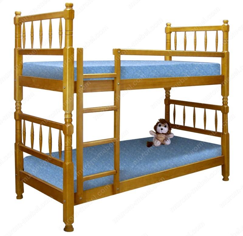 Кровать двухъярусная Детская точеная