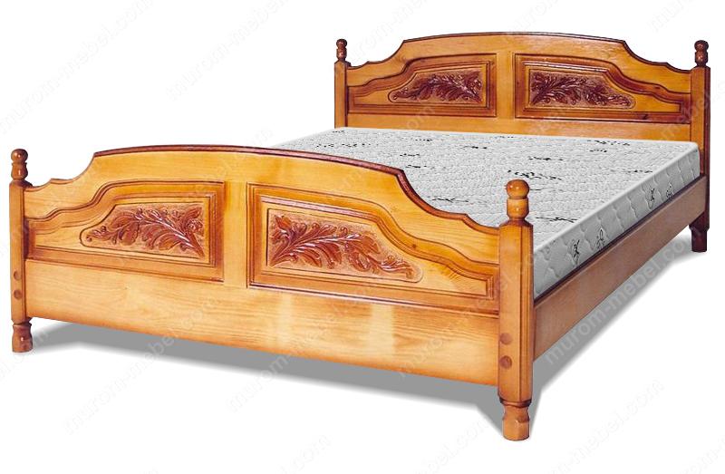 Кровать Филенка Классика (резьба 4-х филенчатая)