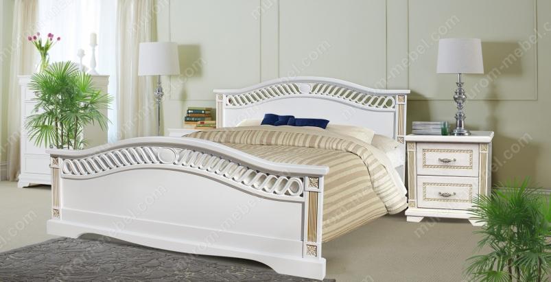 Кровать Милена (сосна, резьба береза)