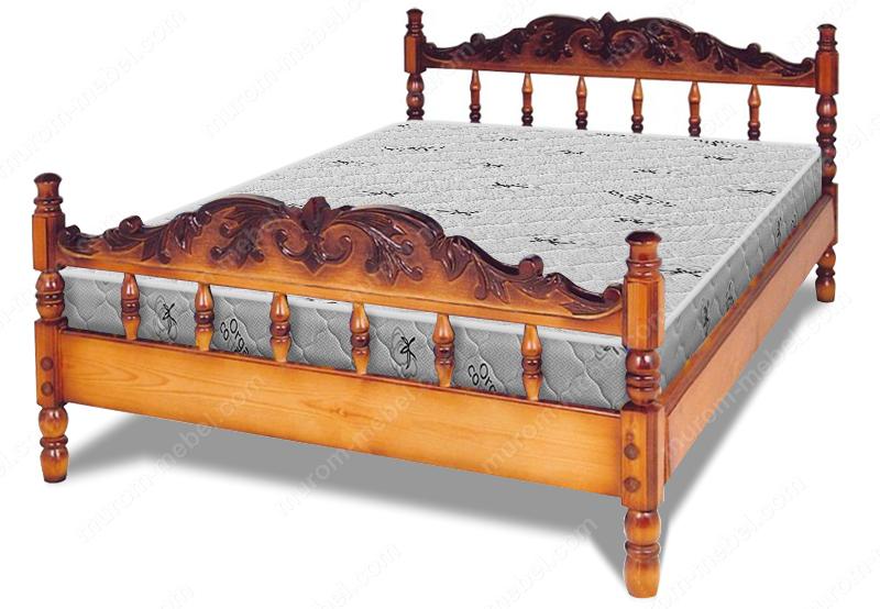 Кровать Точенка Глория (резьба объемная №1)