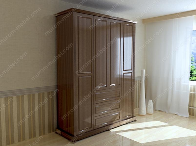 Шкаф четырехстворчатый из серии