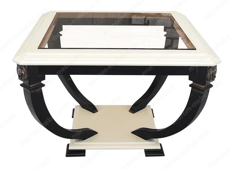 Стол Лев-1 со стеклом из березы