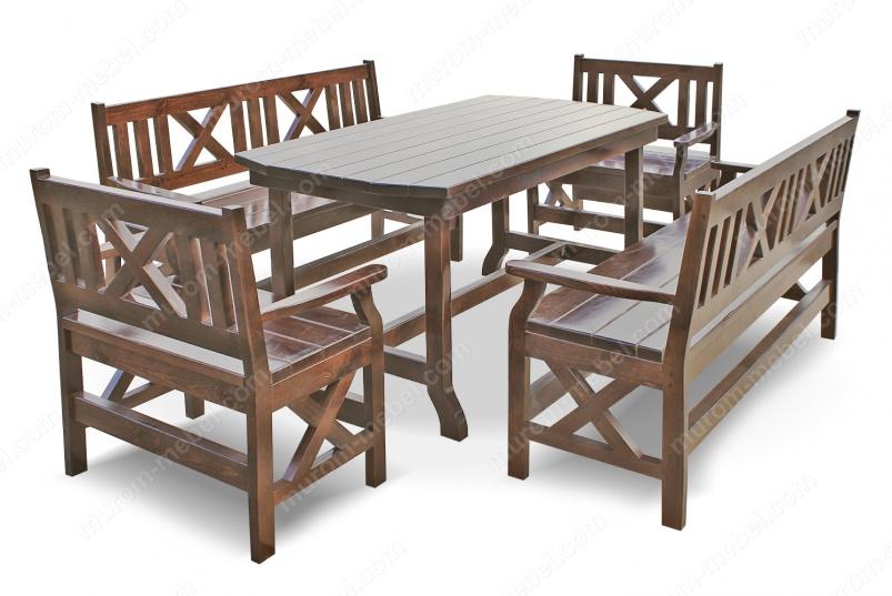 Набор мебели для веранд и террас Дубрава