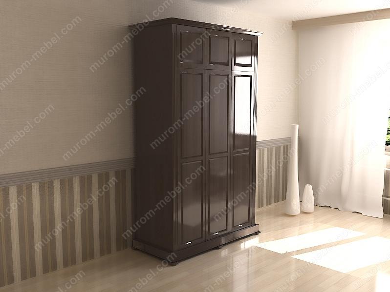 Шкаф трехстворчатый с антресолью из серии