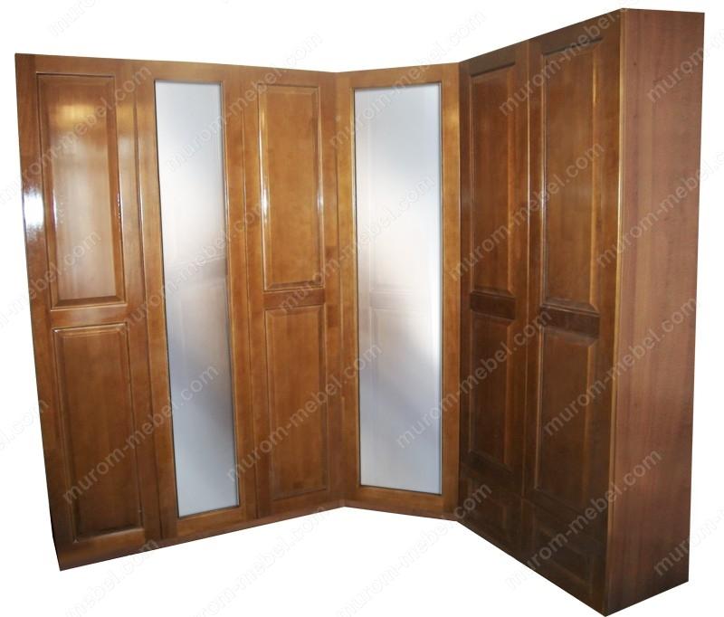 Шкаф угловой с двумя зеркалами