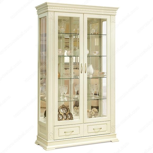 Шкаф двойной Флоренция-1 слоновая кость