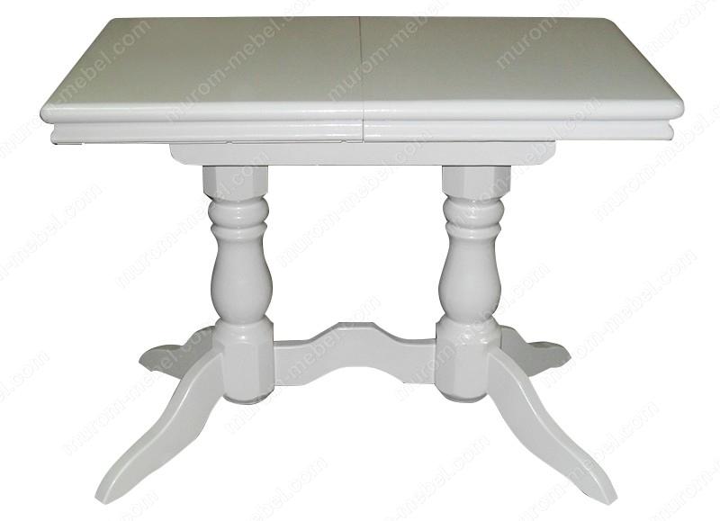 Стол 2 ноги прямоугольный эмаль, с обкладом